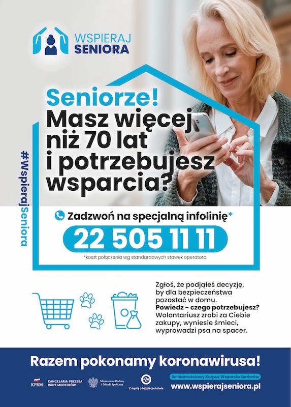 Plakat wspieraj Seniora